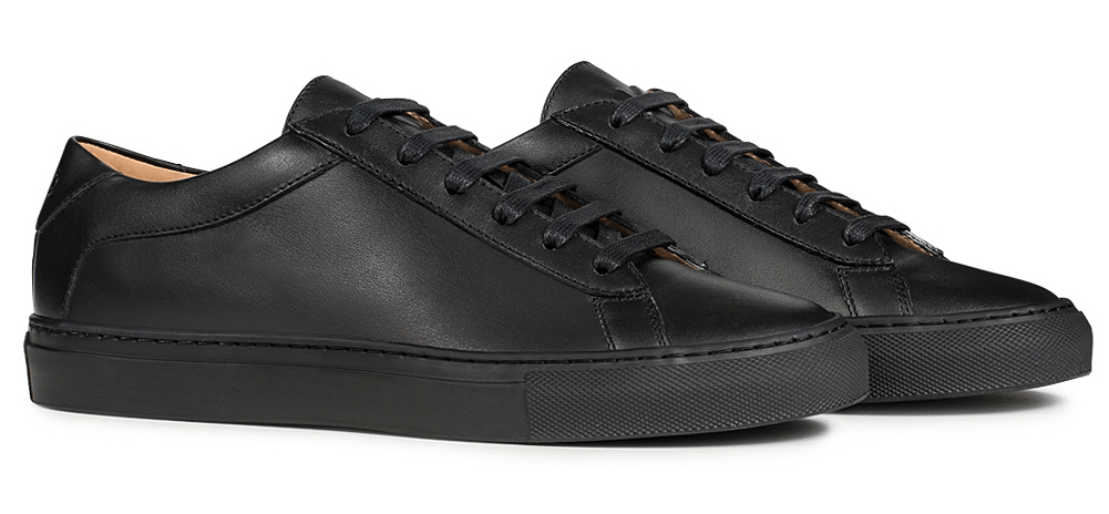Capri Nero | Leather sneakers men