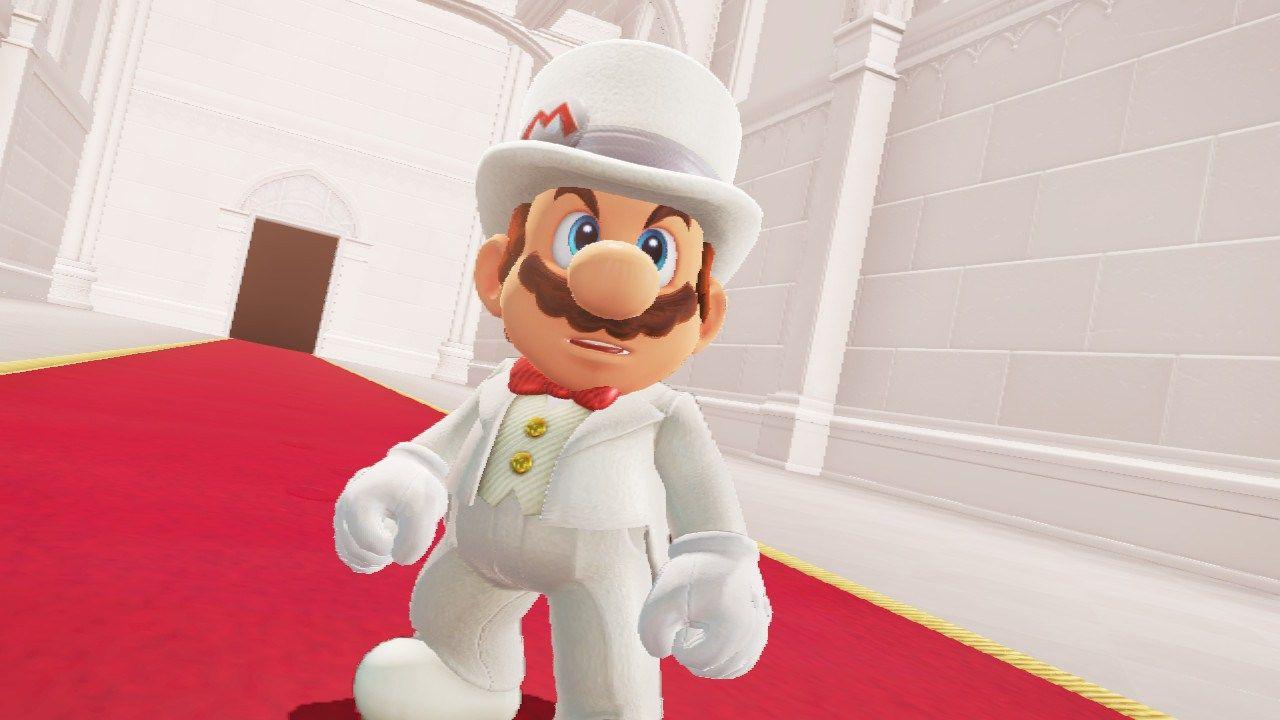 Super Mario Odyssey Mario Crashing Peach Bowser S Wedding