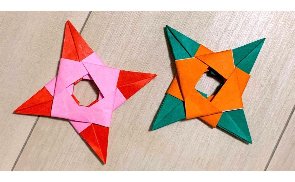 折り紙 折り紙8枚で作る 本物そっくりな 手裏剣 の折り方 Weboo ウィーブー 暮らしをつくる 折り紙 手裏剣 折り紙 折り紙 デザイン