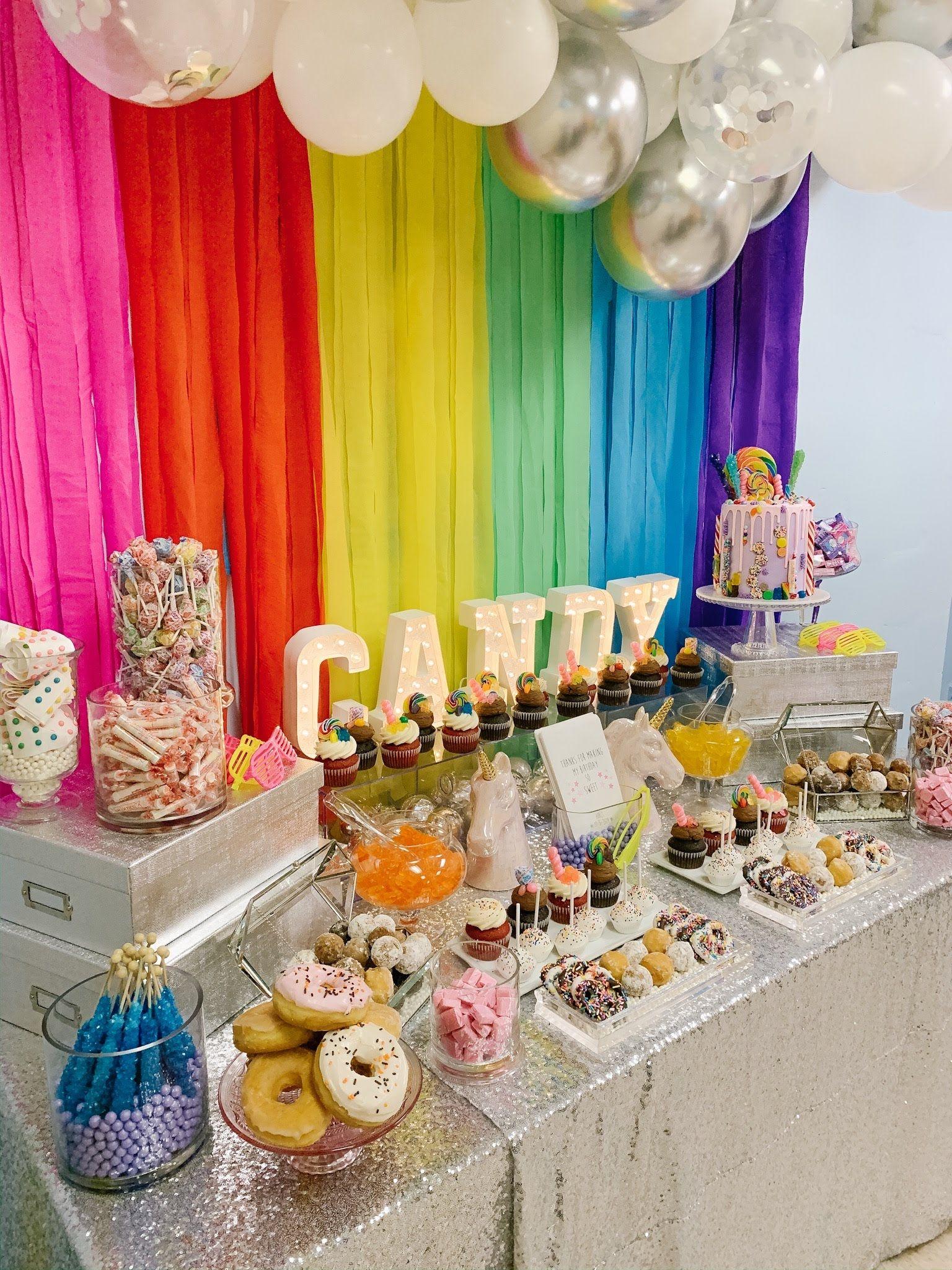 Sparkles Rainbows Girl Birthday Decorations Girls Birthday Party Themes Girls Birthday Party Decorations
