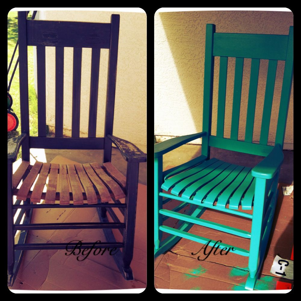 Wondrous Sand And Repaint Old Rocking Chairs Yay Me Diy Old Spiritservingveterans Wood Chair Design Ideas Spiritservingveteransorg