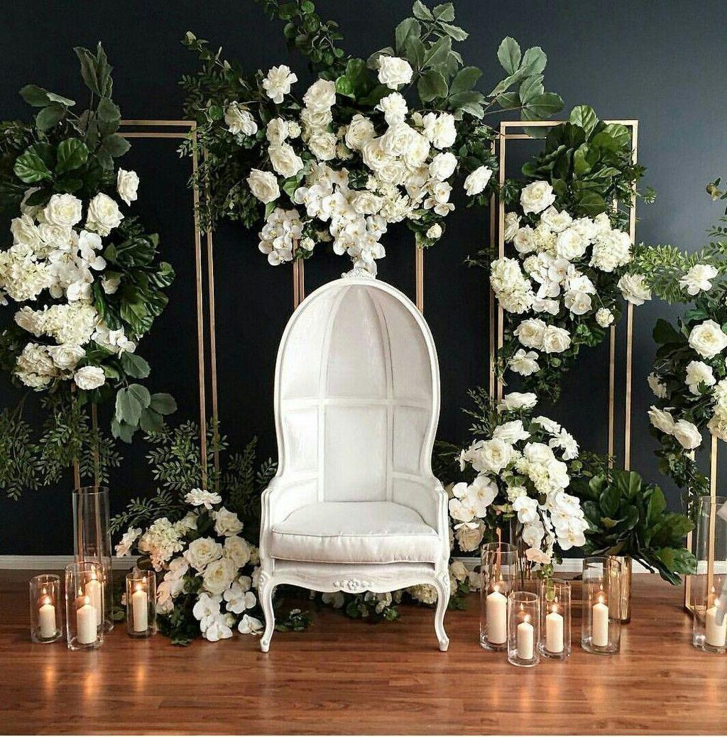 20+ Creative Greenary Wedding Backdrop Ideas