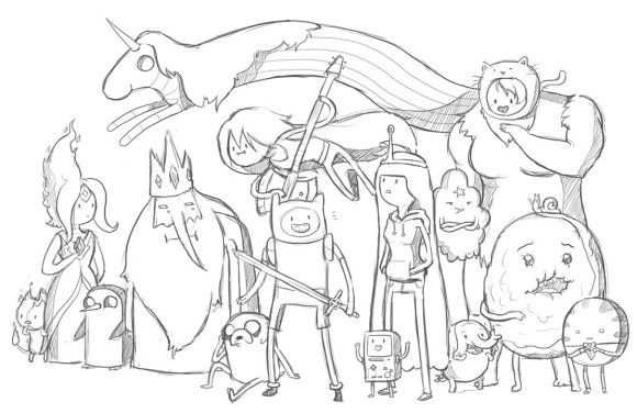 Printable Adventure Time Coloring Pages | The littles | Pinterest