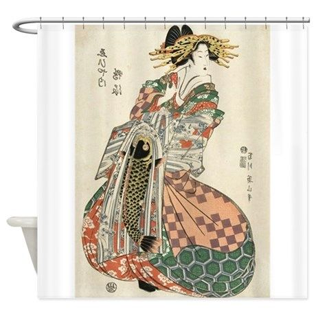 Japanese Geisha Shower Curtain On CafePress