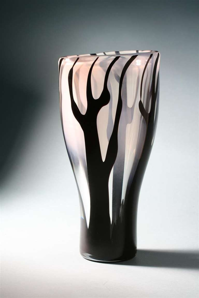 Vase - Trees in the Mist - Designed by Vicke Lindstrand for Kosta, Sweden 1954 | From a unique collection of antique and modern glass at $7000