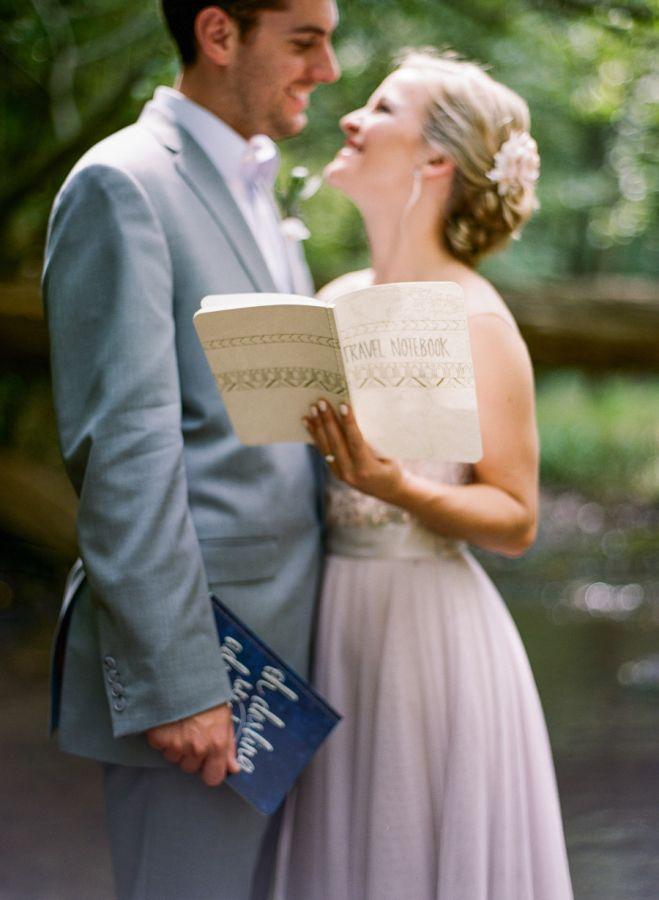 A sweet #DIY bride and groom travel notebook:  http://www.stylemepretty.com/tennessee-weddings/nashville/2015/11/17/travel-elopement-inspiration-in-nashville/ | Photography: Emily Katharine - http://www.emilykatharine.com/