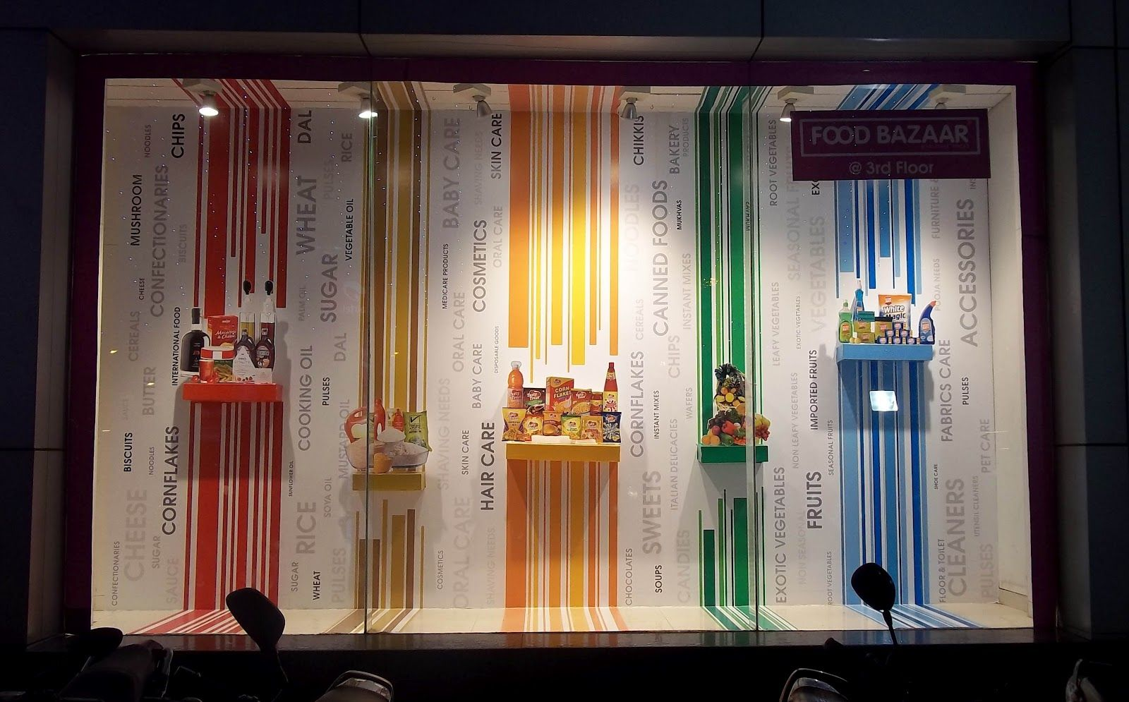 Pin on Retail |Curved Line Display Visual Merchandising