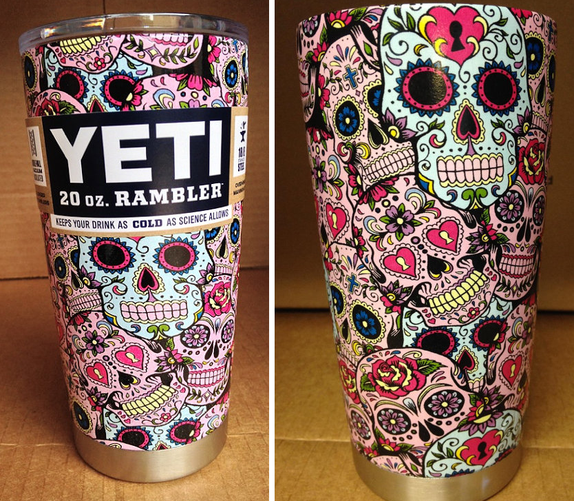 Hydro Dipped Sugar Skull Yeti Cup I Want Skulls Pinterest - Sugar skull yeti cup