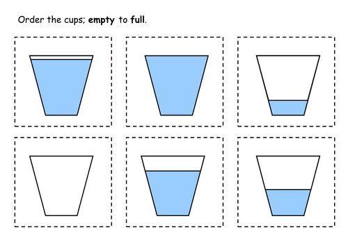 capacity worksheets for kindergarten worksheets   Volume Of Liquid ...