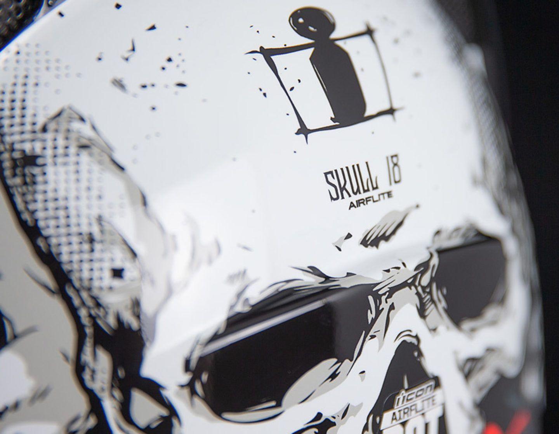 Skull18 Black Helmets Icon Motosports Ride Among