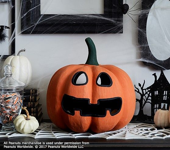 Peanuts® Pumpkin Luminary#160 in 2018 Halloween Decor and