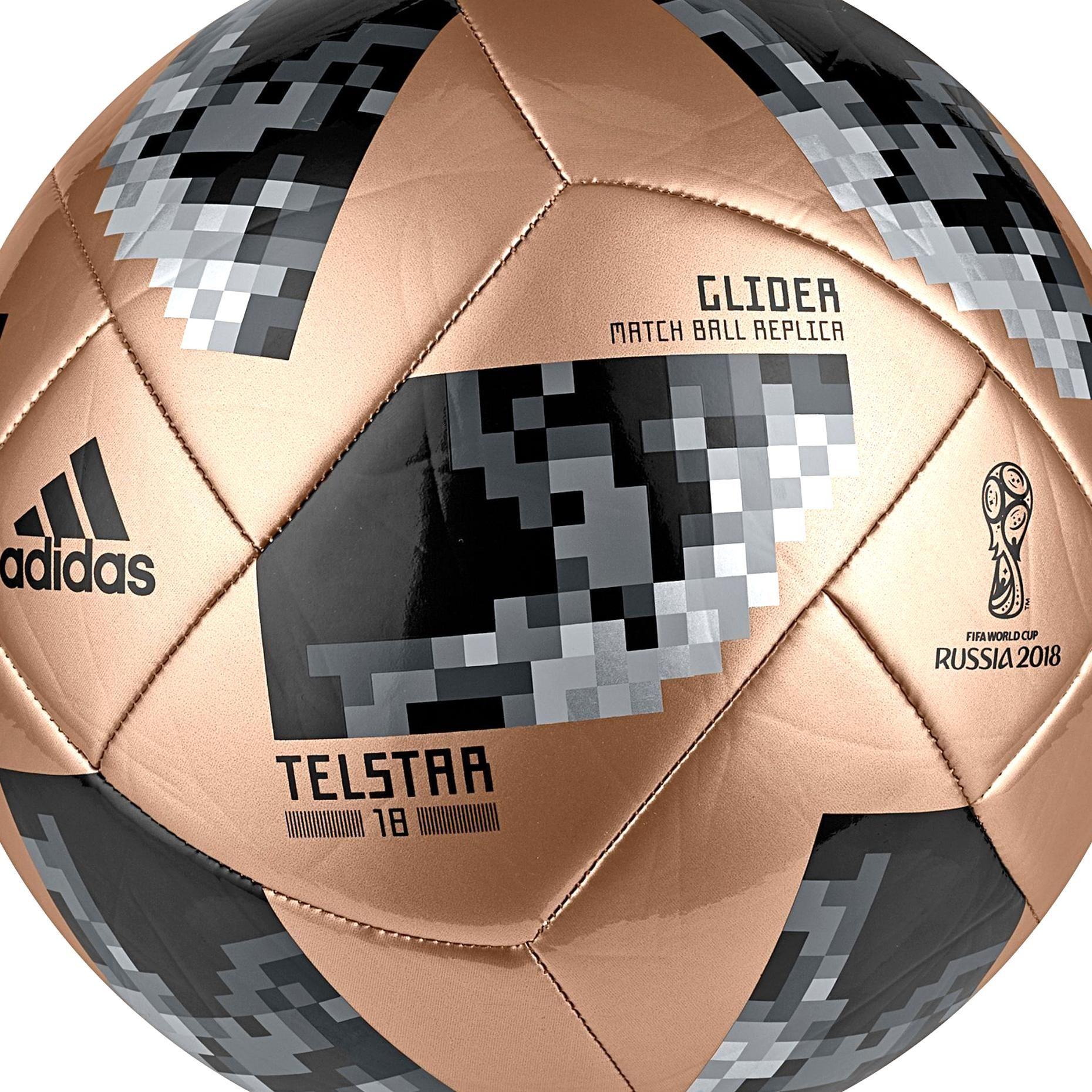 Adidas 2018 Fifa World Cup Russia Telstar Glider Soccer Ball Goldblack In 2020 Soccer Ball Soccer Fifa World Cup