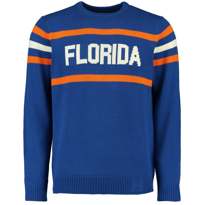58b08a284 Florida Gators Hillflint Vintage Stadium Knit Sweater - Royal ...