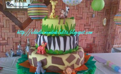 Torta Safari #AnimalesDeLaJungla #AnimalesDeLaSelva #AnimalPrint