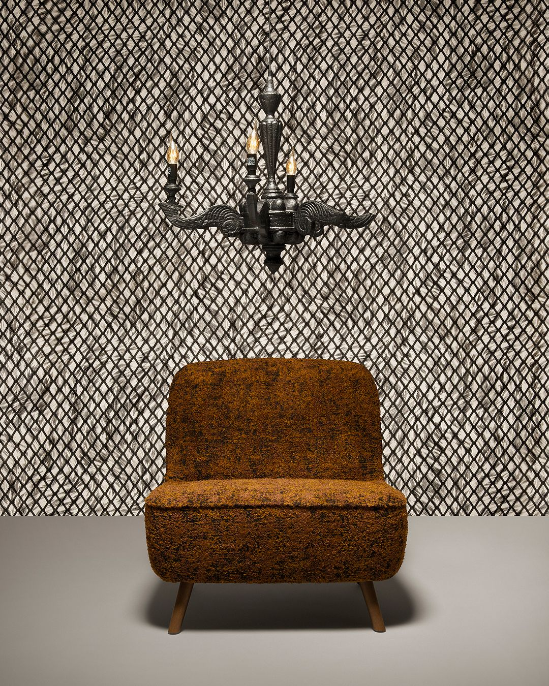 Moooi Wallcovering Aristo Quagga Printed with a finish, inspired by the delicate features and royal appearance of the Aristo Quagga.