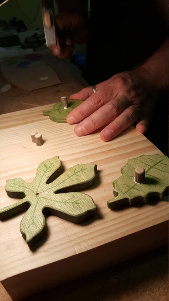 Wooden Toys / Wooden leaf puzzle / Waldorf Toys ...