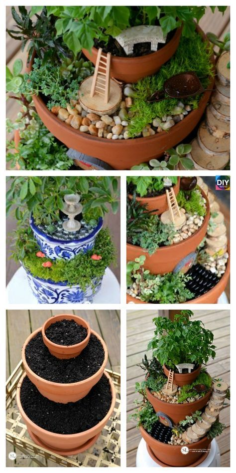 DIY Flower Pot Fairy Garden - Step by Step Tutorial #flowerpot