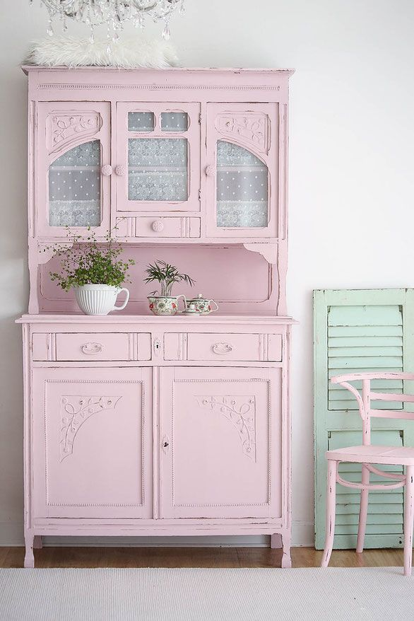 k chenbuffet in mint shabby chic schrank antiker. Black Bedroom Furniture Sets. Home Design Ideas