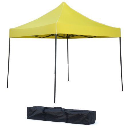 Portable Canopy tent set - x - By Trademark Innovations (Yellow Canopy Cover)  sc 1 st  Pinterest & Lightweight ; Portable Canopy tent set - 10u0027 x 10u0027 - By Trademark ...