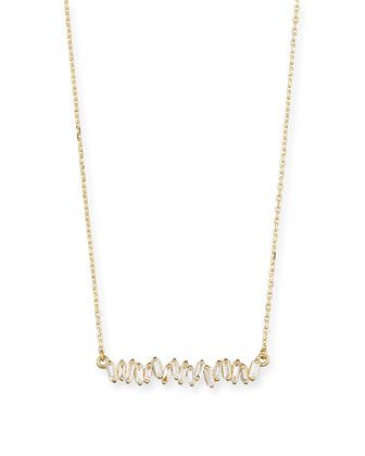 baguette diamond necklace Suzanne Kalan uhEYjhb
