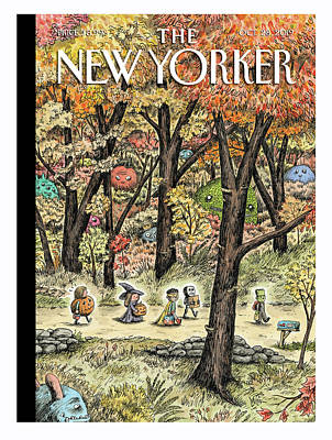 New Yorker Cover Halloween 2020 Leaf Peepers by Ricardo Liniers in 2020 | The new yorker, New