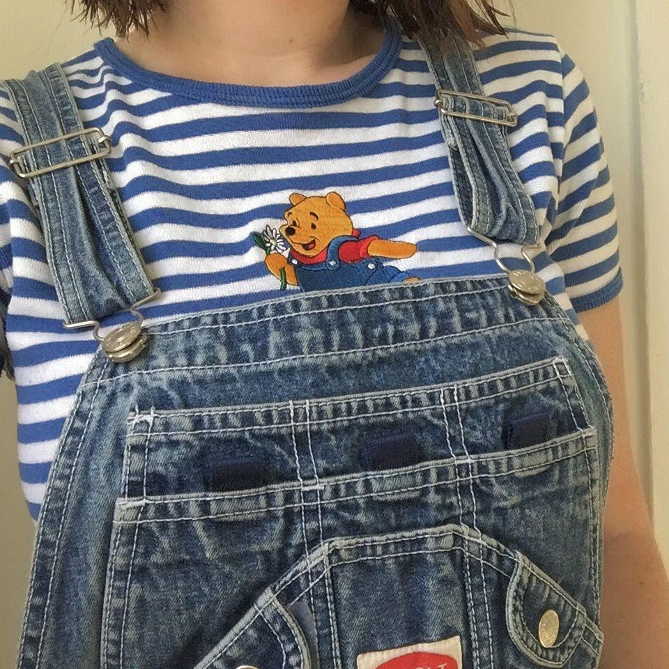 14968da1380 Vintage Winnie the Pooh shirt. Overalls