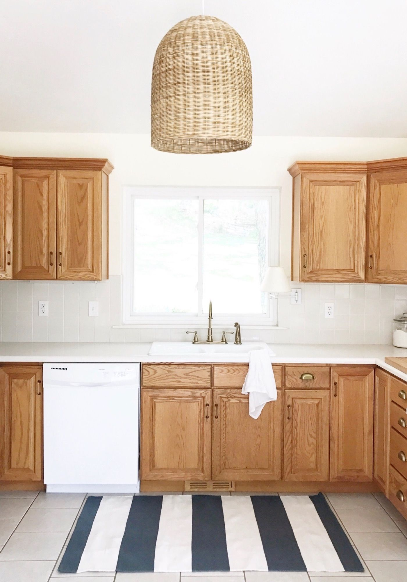Update Oak Cabinets Without Painting Them Kitchen Diy Cabinets