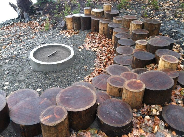 A great way to use a tree, if you HAVE to cut one down. Also, firepit.