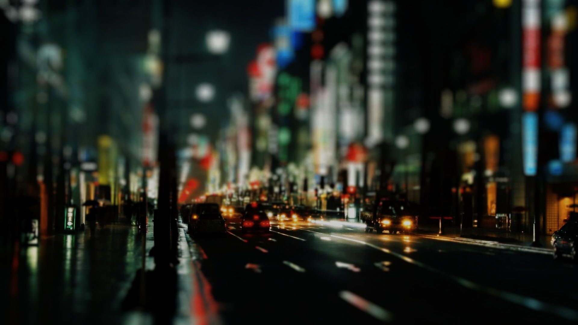 City Hazy Blurred Unsharp Night Rain 1920x1080 Jpeg 1 920