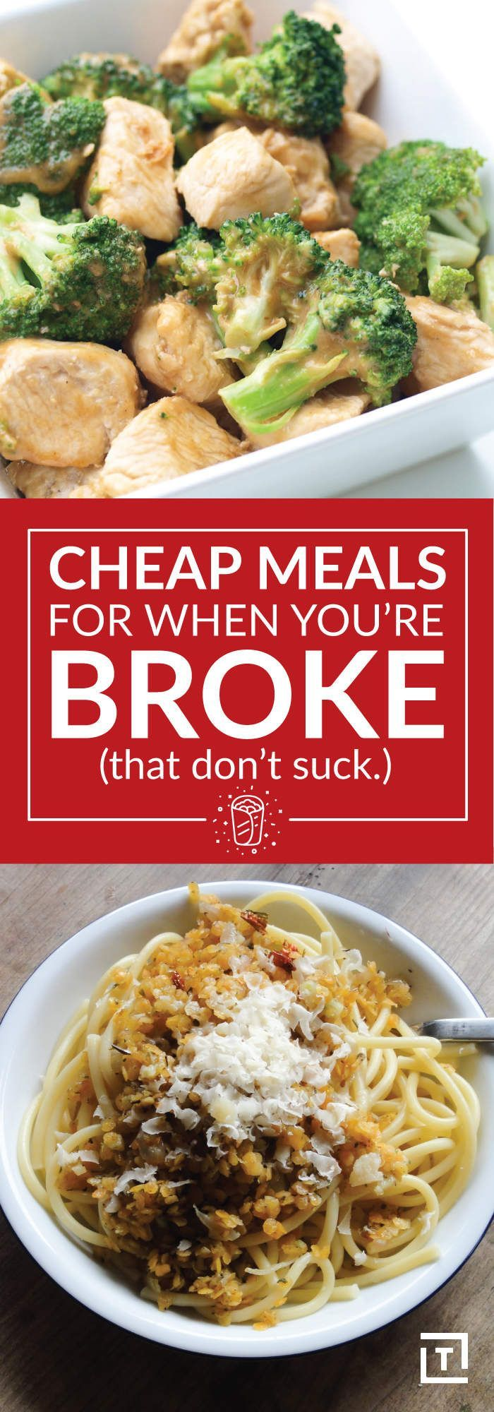 cheap meals for when you're broke (that don't suck) | saving money