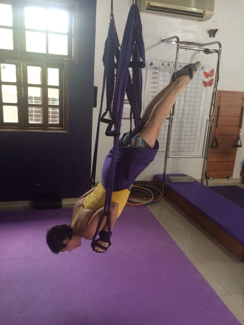 Flávia Assaife training Pilates