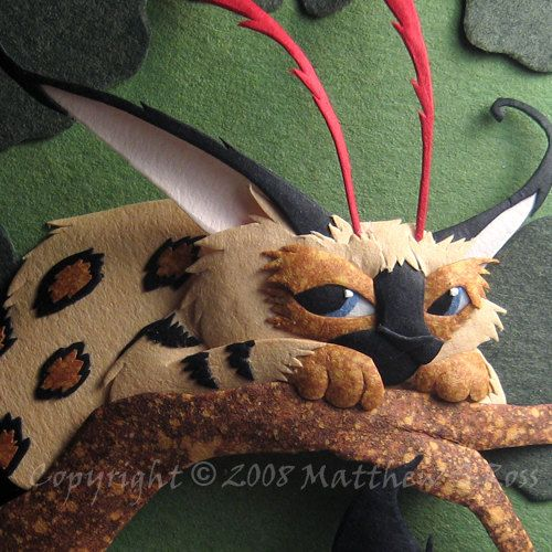 Fantasy Creature ACEO Paper Sculpture 2D PRINT by Matthew Ross