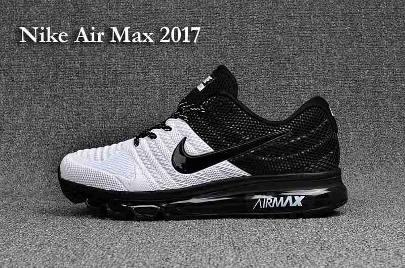 premium selection ae5a6 b1b0e Clearance New Nike Air Max 2017 KPU Men Black White Online Store - $70.99