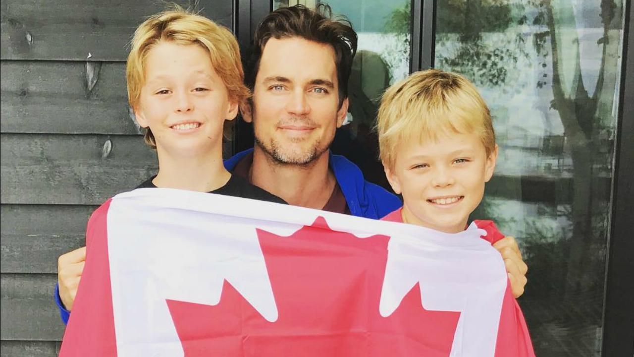 Matt Bomer Shares Rare Photo Of Sons In Celebration Of Canada Day Matt Bomer Kids Matt Bomer Family Matt Bomer