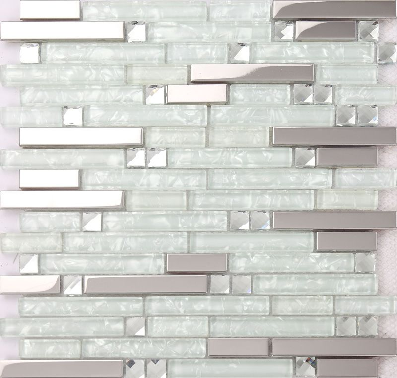 Crystal Glass Tile Sheets Square Tiling Mosaic Metal With Images