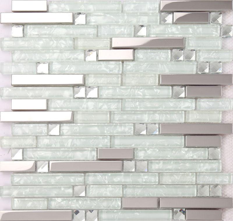 Kitchen Backsplash Tile Antique Mirror Bevel Amalfi Glass Wall