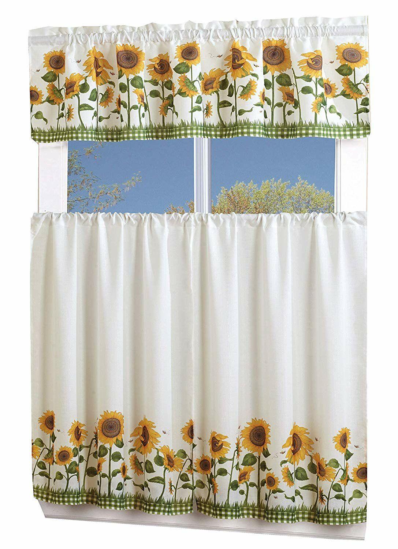 August Grove Lamont 4 Piece Sunflower Curtain Set  Wayfair in