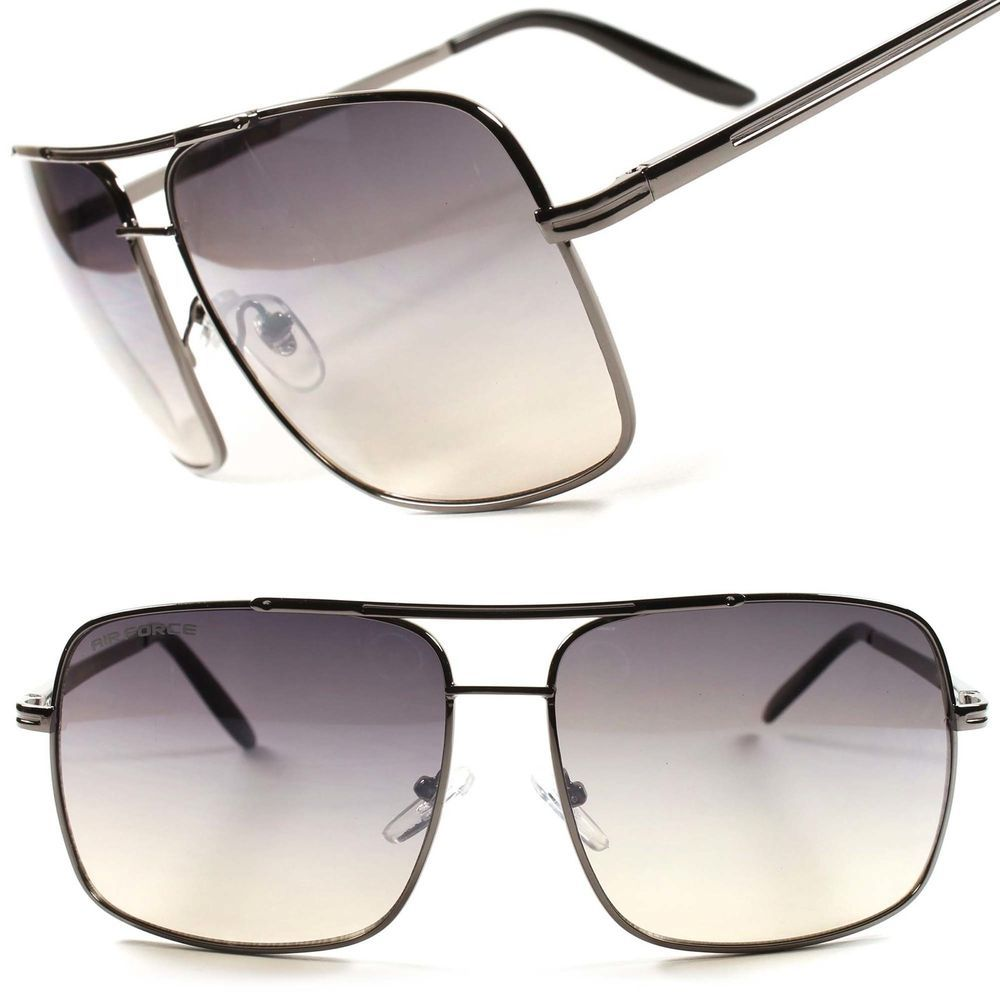 32938e4126 Air Force Old School Cop Rectangle Oversized Aviator Mens Womens Sunglasses  B59B  AirForce  Rectangular