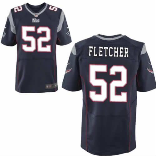 a78435f2de7 Men s NFL New England Patriots  52 Fletcher Navy Blue Elite Jersey ...