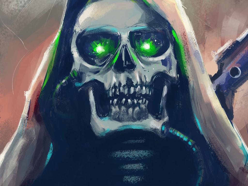 Skull Art Hood Wallpaper Image Free Download Skull art