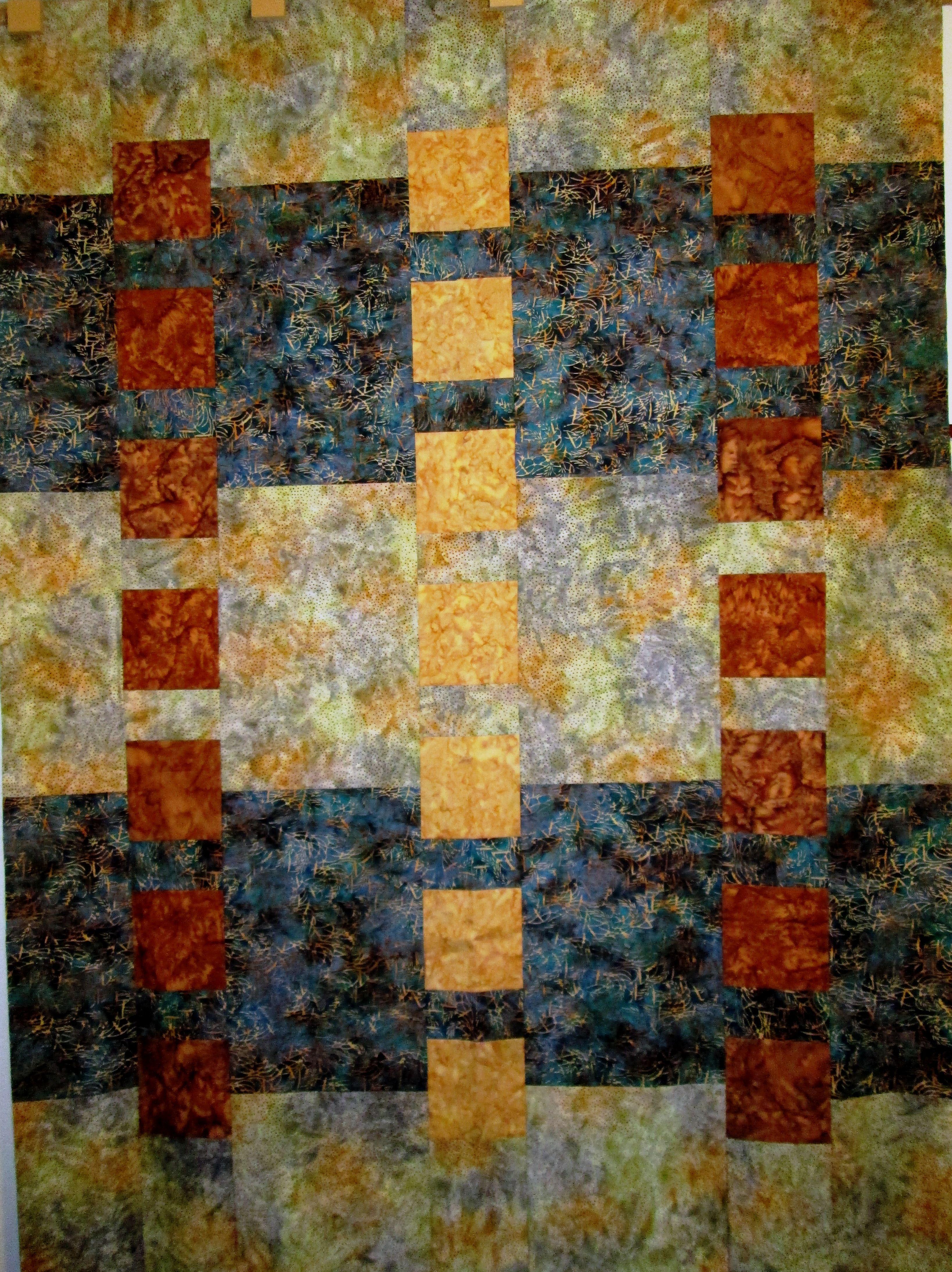 batiks in a modern quilt pattern