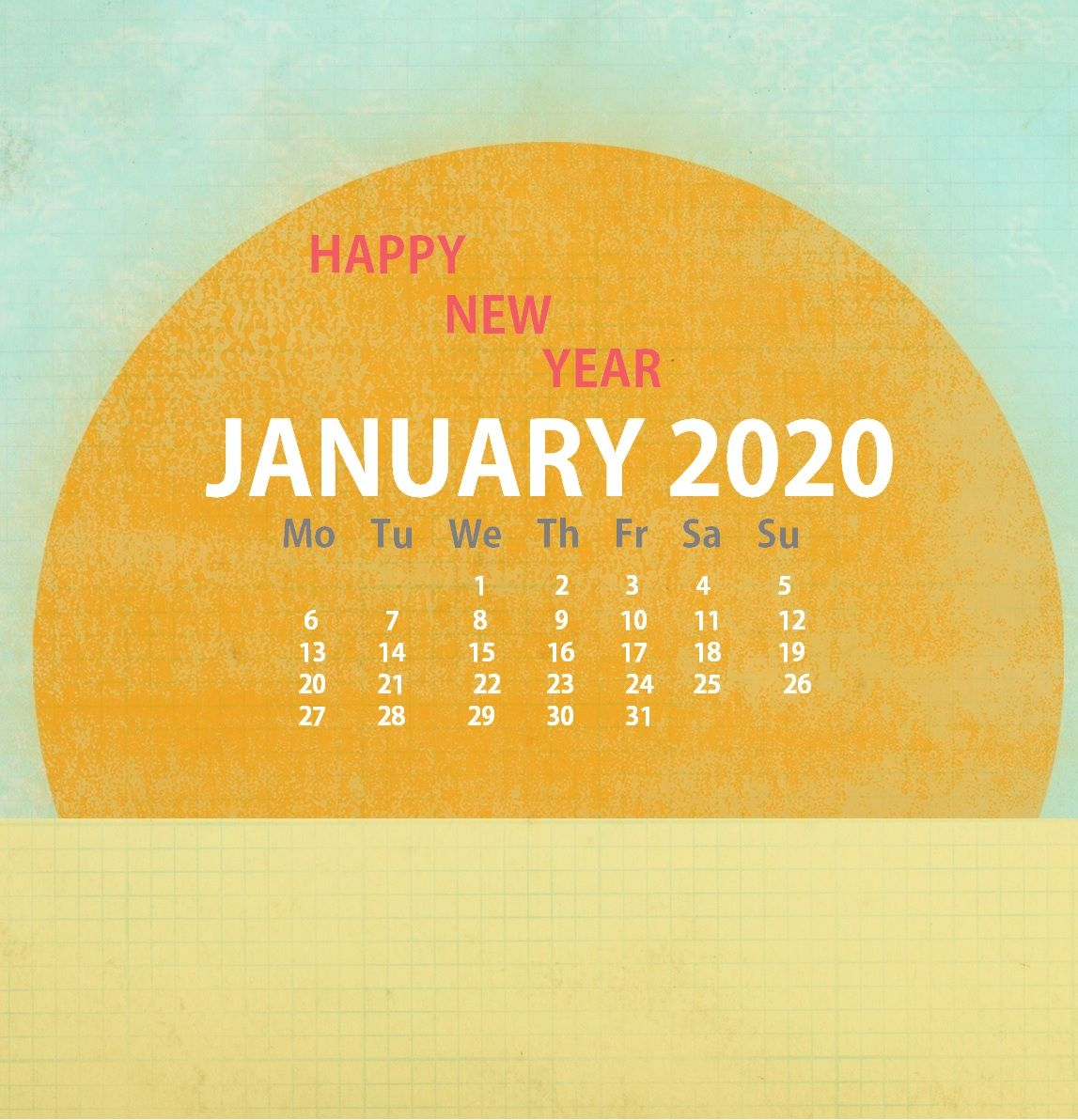 iPhone January 2020 Wallpaper Calendar (With images