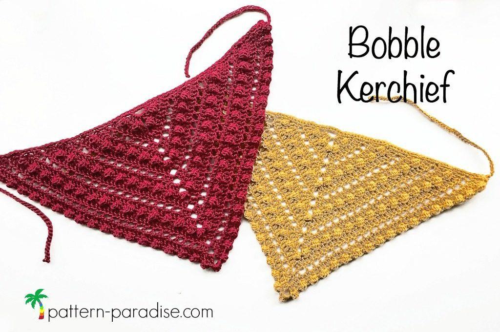 Free Crochet Pattern Bobble Kerchief Bandana Pinterest