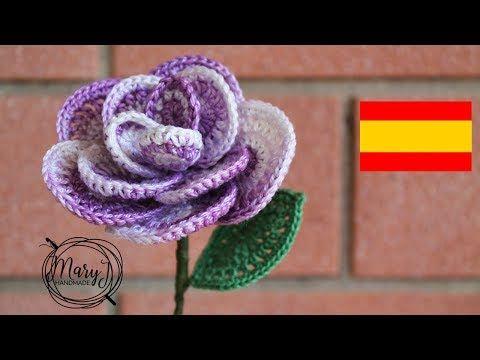 Como hacer flores Nochebuena a Crochet en punto 3D tejido
