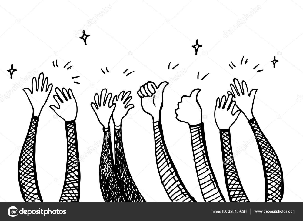 Download Doodle Hands Up Hands Clapping Applause Gestures Congratulation Business Vector Business Vector Illustration Vector Illustration Doodle On Photo