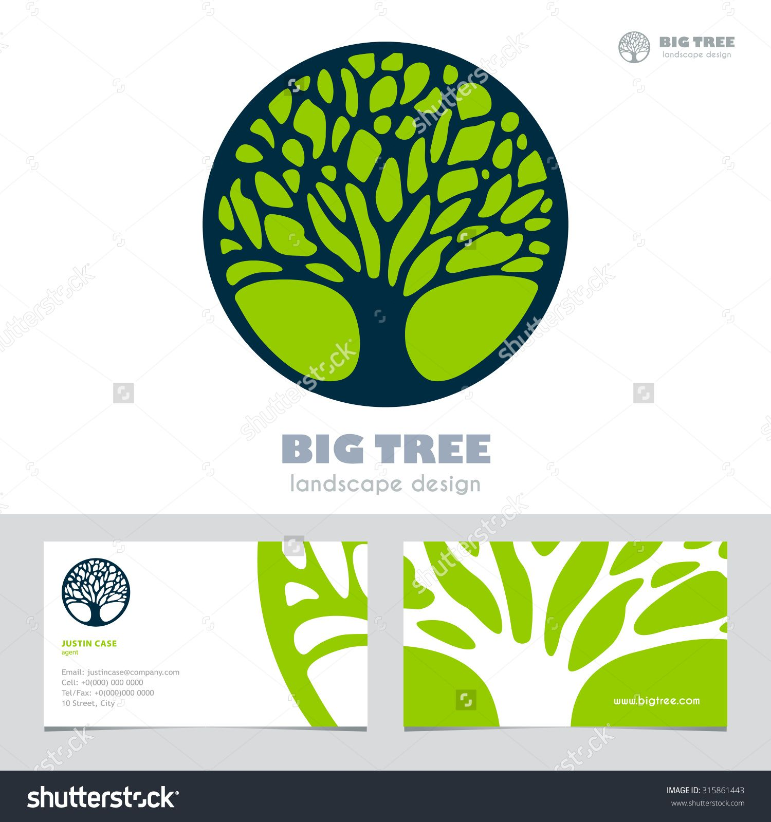 Abstract tree sign business card vector template vector icon abstract tree sign business card vector template vector icon corporate identity template for landscape design architecture natural organic product reheart Images