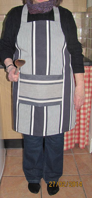 French Work Apron Pinafore Antique 19th by FromAFrenchAttic, £19.00