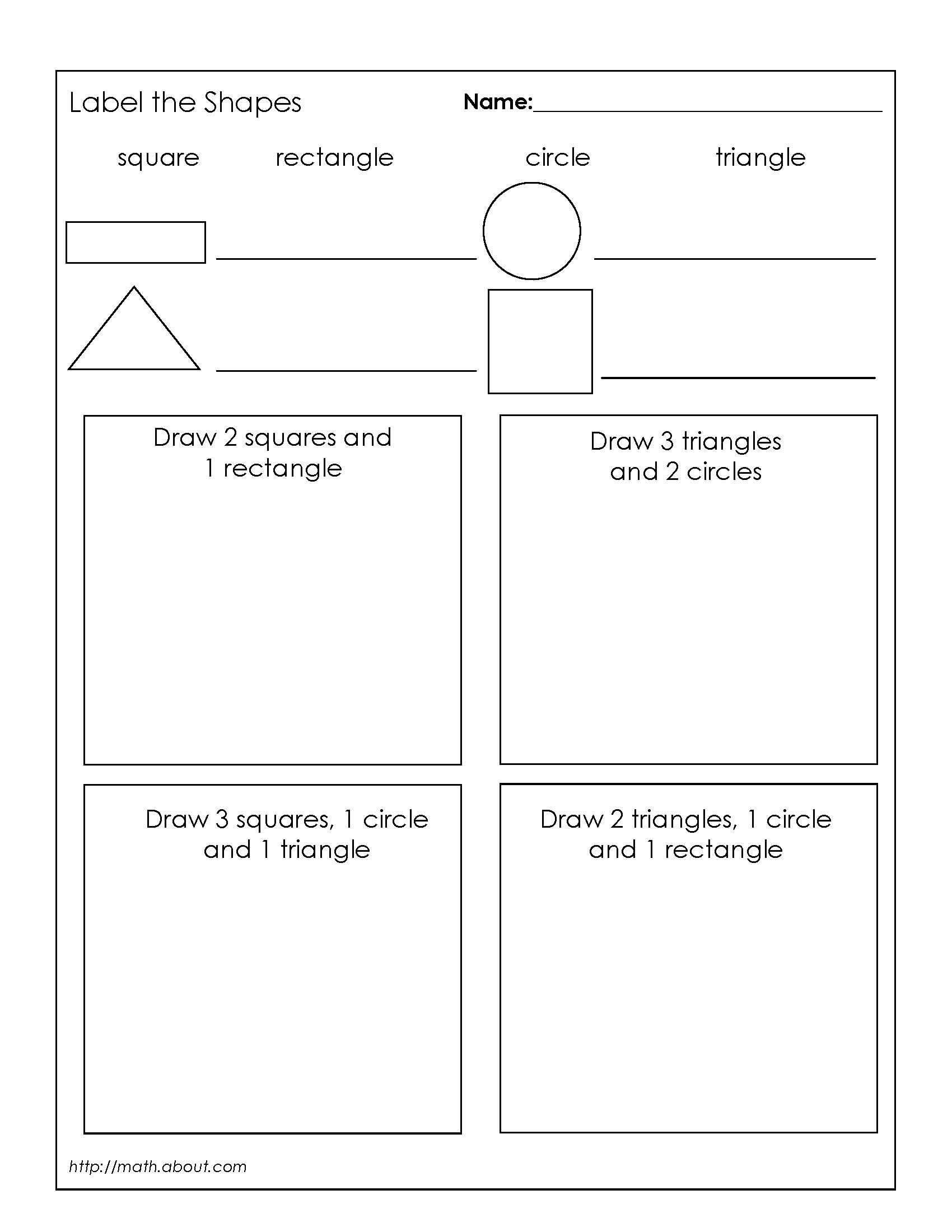 1st Grade Geometry Worksheets For Students Geometry