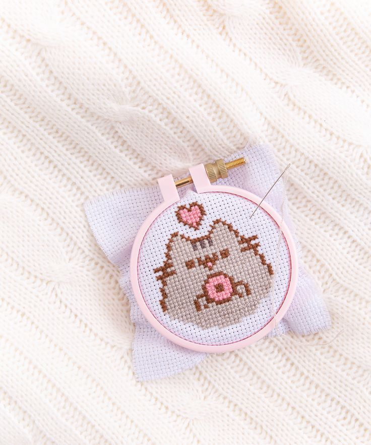 Photo of Pusheen DIY Cross-Stitch Kit