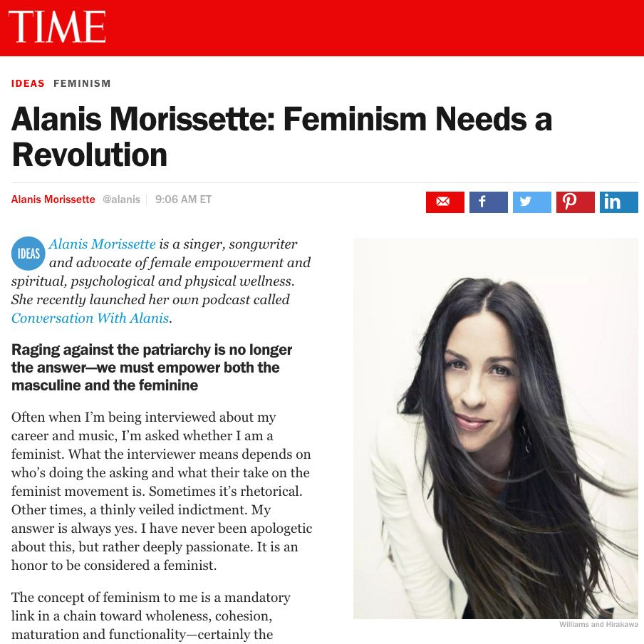 Alanis Morissette Feminism Needs A Revolution Feminism
